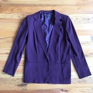 ARITZIA Babaton Purple Plum One Button Blazer 0